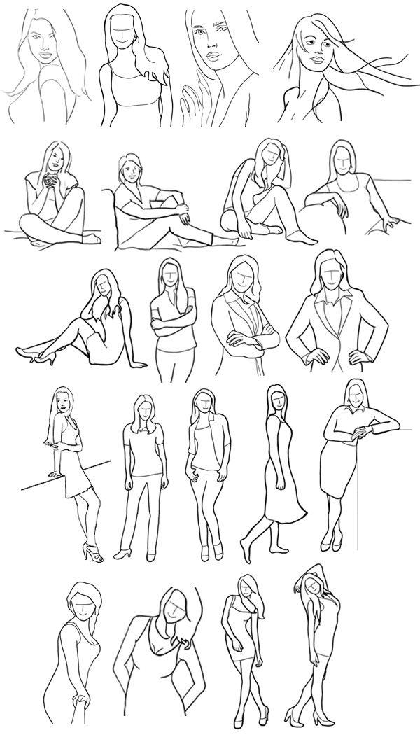 Ejemplos de poses