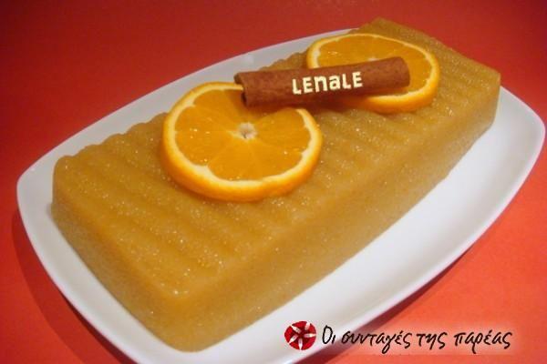 Χαλβάς σιμιγδαλένιος με πορτοκάλι #sintagespareas