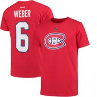 Montreal Canadiens Shea Weber Reebok NHL Player Name & Number T-Shirt: The Montreal… #nhl #nfl #mlb #nba #sportsjerseys #sportsapparel