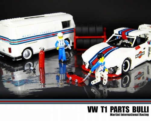 LEGO VW T1 Bulli - Lego Martini Porsche Racing Parts Truck