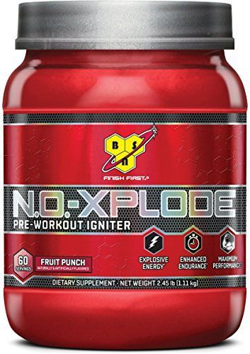BSN N.O.-XPLODE Pre-Workout Supplement with Creatine, Beta-Alanine, and Energy, Flavor: Fruit Punch, 60 Servings //Price: $44.99 & FREE Shipping //     #hashtag1