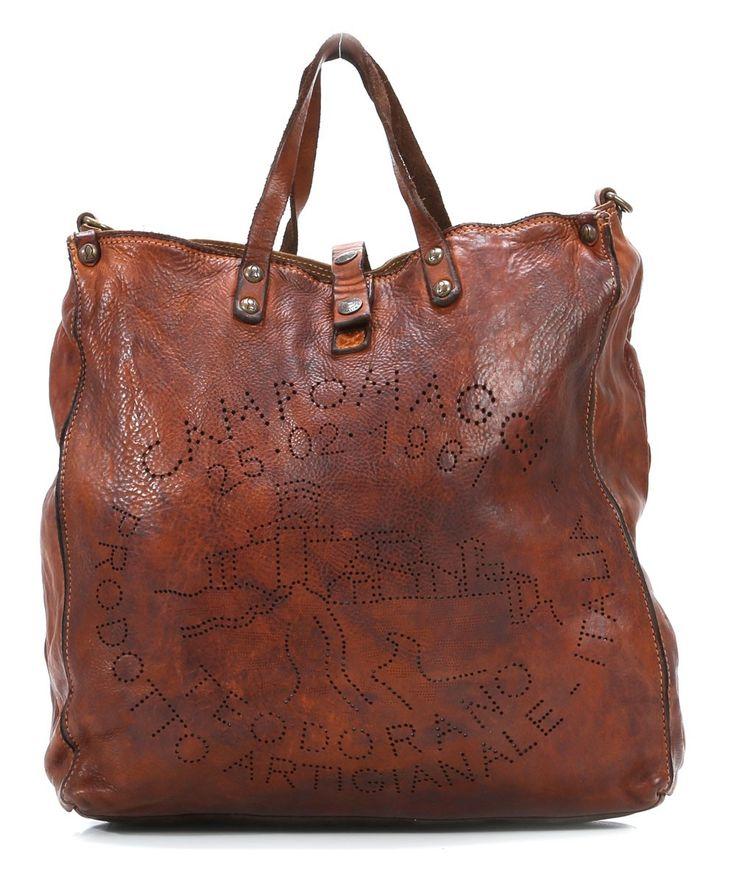 Lavata Tote Leather cognac 36 | Campomaggi