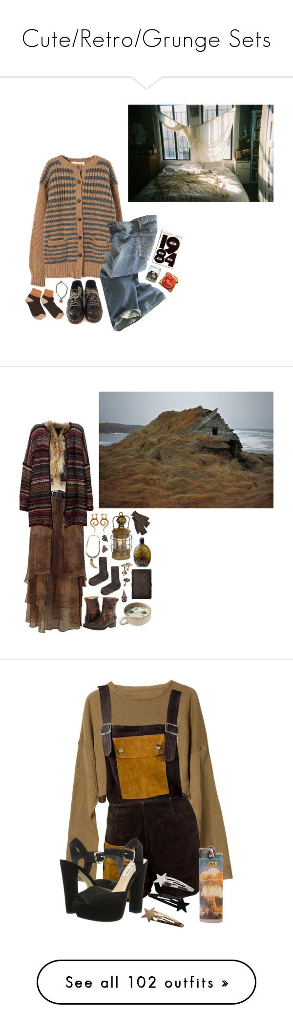 """""""Cute/Retro/Grunge Sets"""" by given-to-fly ❤ liked on Polyvore featuring Marni, Polo Ralph Lauren, Dr. Martens, ORWELL, Jean-Paul Gaultier, SuperTrash, ASOS, Inverni, Antik Batik and Leon & Harper"""