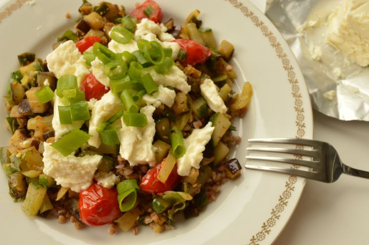 Buckwheat Groats with Grilled Vegetables