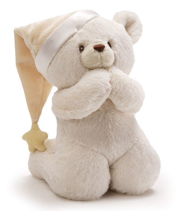 Look at this Now I Lay Me Down to Sleep Prayer Bear Plush Toy on #zulily today!