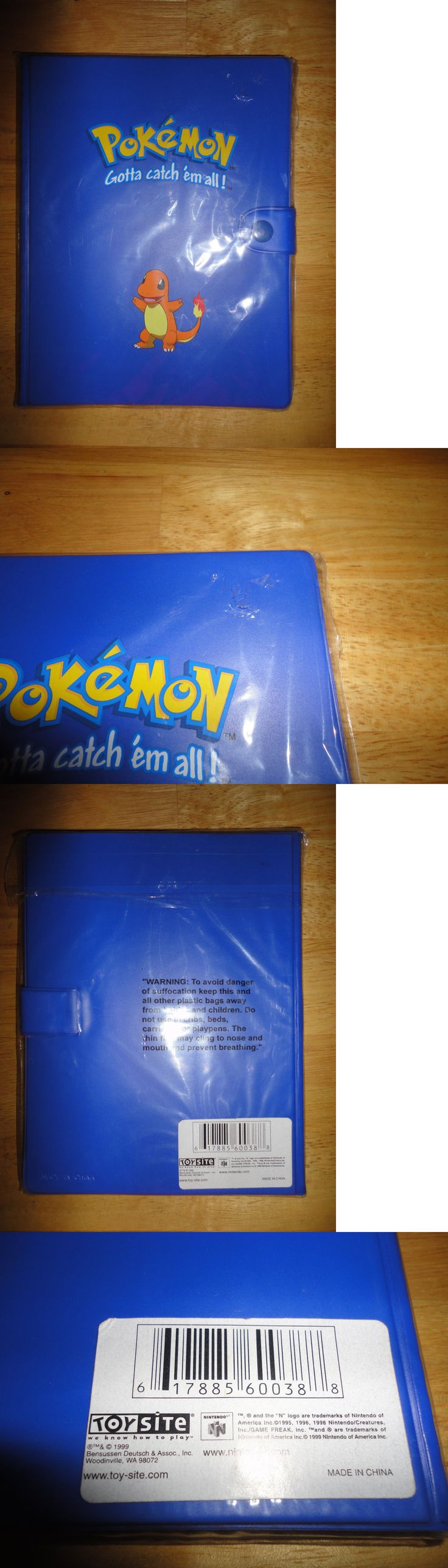 Other Pok mon TCG Items 2608: Vintage 1999 Pokemon Trading Card Game Toy Site Blue Charmander Binder *New* -> BUY IT NOW ONLY: $59.99 on eBay!