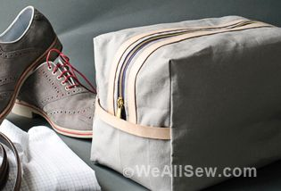Make a simple yet practical travel bag for Dad (or any traveler in your life).