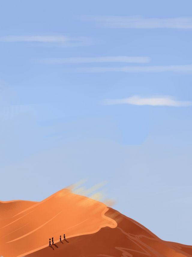 سماء الصحراء خلفية زرقاء اللون البرتقالي Orange Background Blue Orange Blue Sky