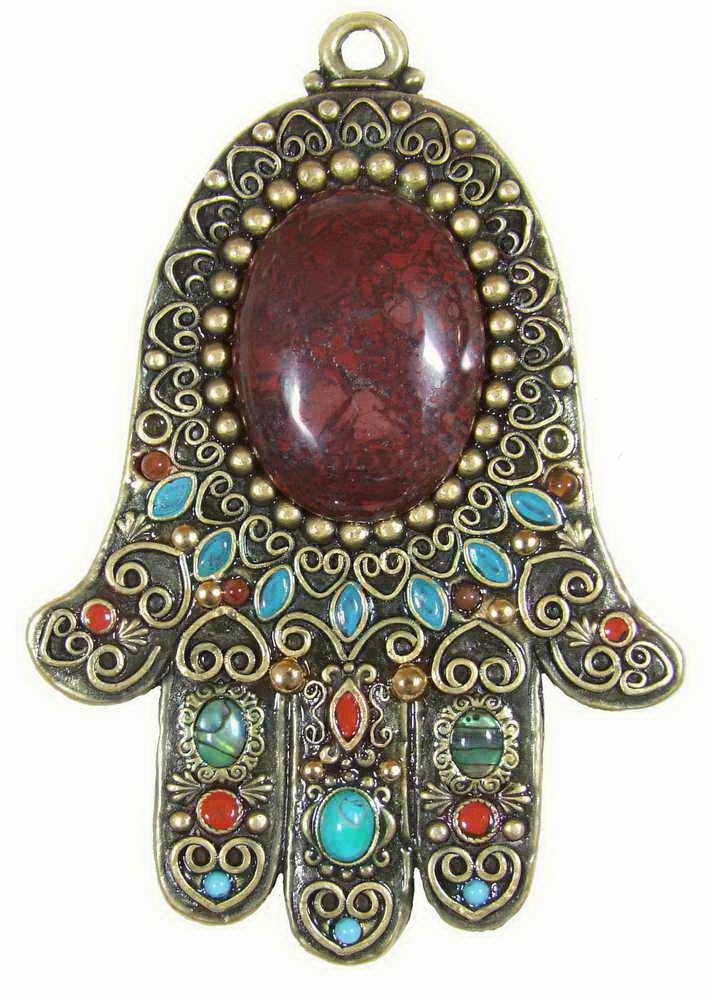 Striking Centerpiece Hamsa Plaque