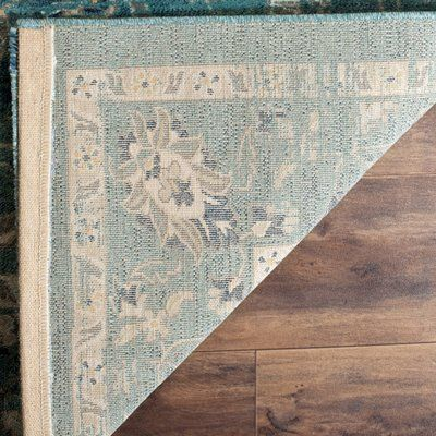"""House of Hampton Herne Bay Turquoise/Beige Area Rug Rug Size: Square 6'7"""""""