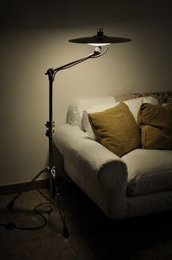 Drummer's cymbal lamp. Too cool!                                                                                                                                                                                 More