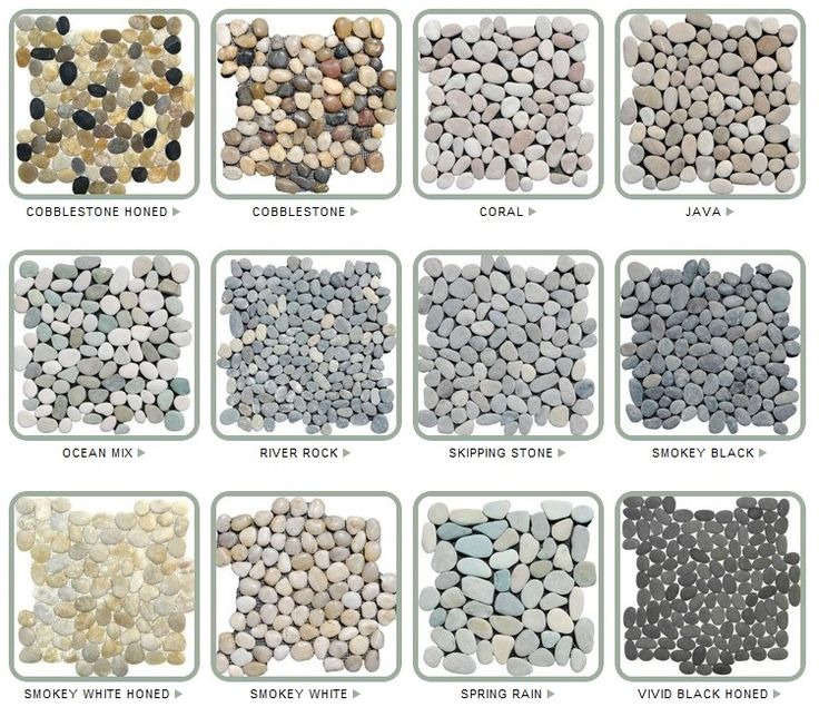 bathroom floor Stone Pebble Tiles