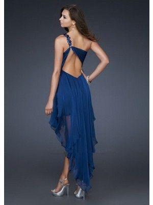 A-line/Stile Principessae Monospalla Asimmetrico Chiffon Senza Maniche Cocktail Dress - Abiti per Feste - Abiti da Cerimonia