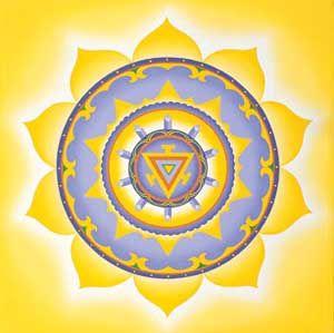 Третья чакра-Манипура.Чакра солнечного сплетения символизирует наше солнце - центр нашей личной силы. Этой чакрой мы поглощаем животворную и стимулирующую силу солнца, а в результате устанавливаем активную связь с остальным человечеством и с физическим миром.