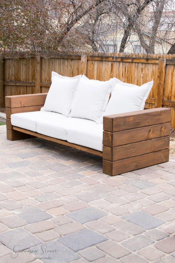 Diy Outdoor Sofa Full Tutorial Mobilier Exterieur Diy Meuble