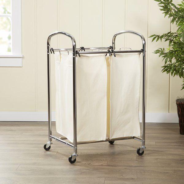 Basics 2 Bag Laundry Sorter Laundry Sorter Laundry Hamper Hamper