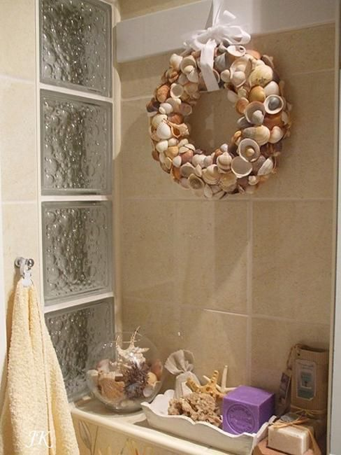 Photo Album For Website  Modern Bathroom Design and Decorating Ideas Incorporating Sea Shell Art and Crafts
