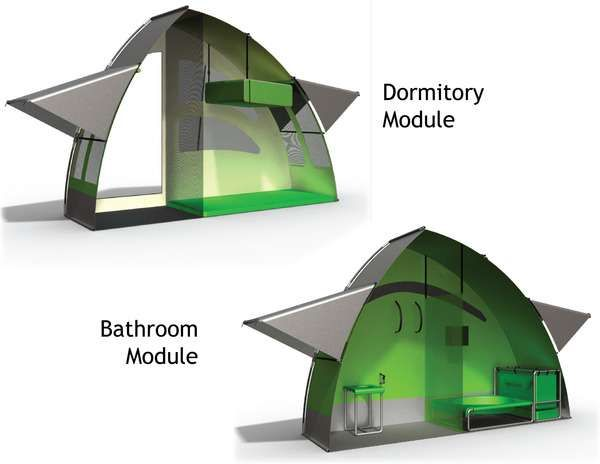 Sturdy Refugee Residences - The NIDO Portable Shelter is an Efficient, Effective Homeless Refuge (GALLERY)