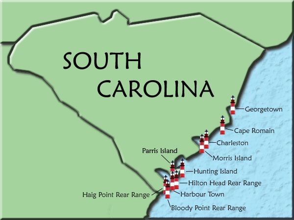 South Carolina lighthouses! I kept telling everyone there was two light houses in Hilton Head,but everyone thought I was crazy! Here's the proof!