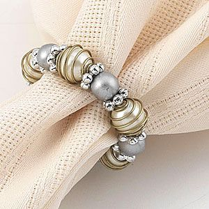 Beads and Pearls Napkin Ring......wonder if bed bath & beyond still have these...
