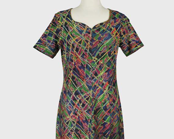 Missoni Vintage 1980s Knit Shift Dress Multiple Colors Cotton