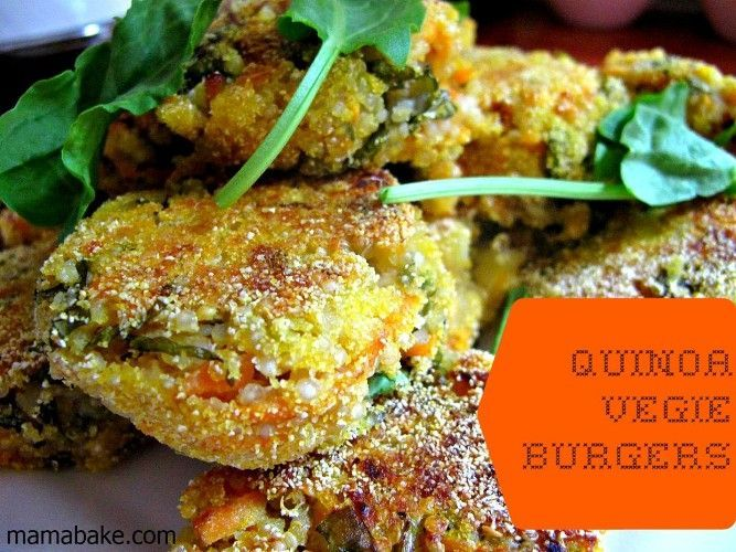 Quinoa Vegie Burgers.