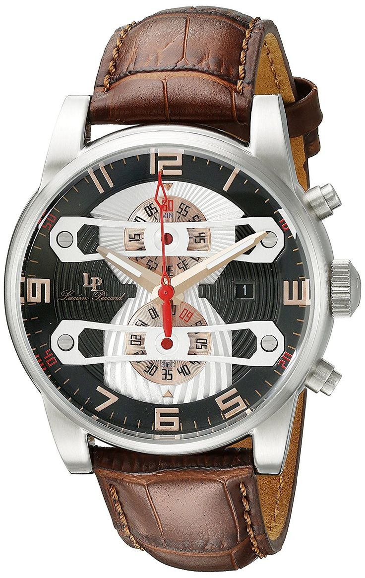 Lucien Piccard Watches Bosphorus Chronograph Leather Band Watch >>> You can get more details by clicking on the image.