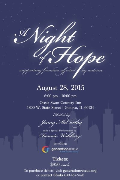A Night of Hope Hosted by Jenny McCarthy » Generation Rescue | Jenny McCarthy's Autism Organization