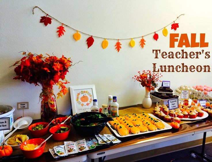 Fall Teacher's Luncheon From Marci Coombs Blog