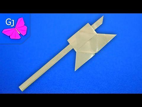 Оригами из бумаги Боевой Топор - YouTube