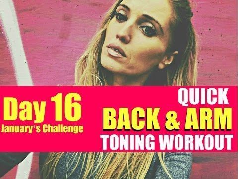 QUICK BACK AND ARM TONING WORKOUT - so say goodbye to back fat and bingo wings. No equipment needed - YouTube