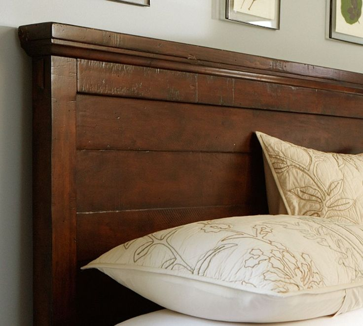 Pottery Barn Headboard- It can be reproduced with reclaimed wood.