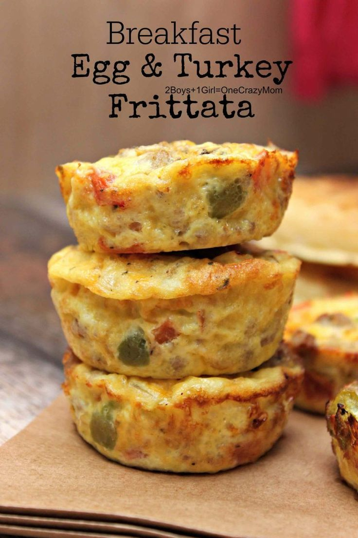 Breakfast Egg & Turkey Frittata is so easy to make and a quick breakfast that can be prepared ahead of time  #BackToButterball #ad