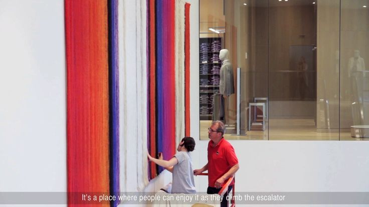 Video of a restored Mariette Rousseau-Vermettte tapestry , now in display at the Simons Store in Anjou.