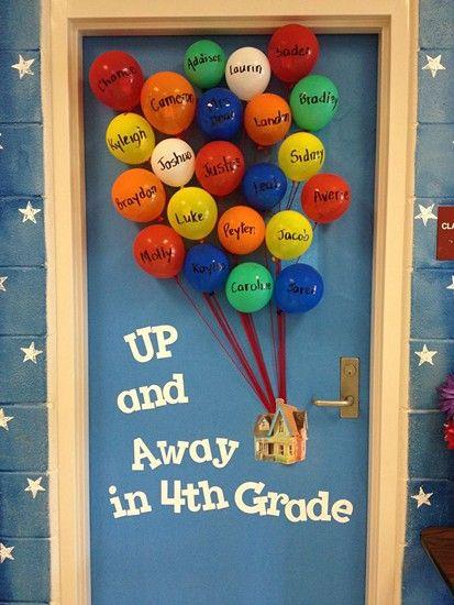 up balloon bulletin board
