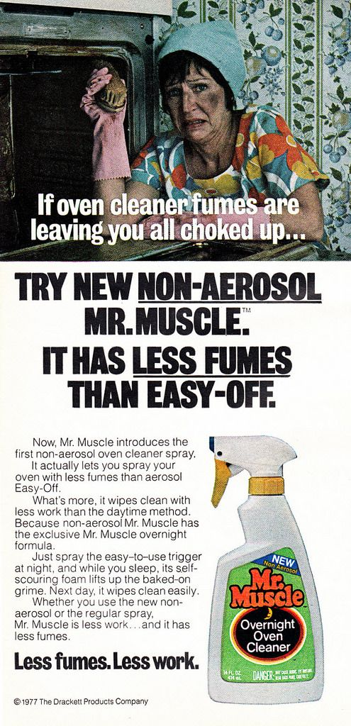 how to use mr muscle oven cleaner