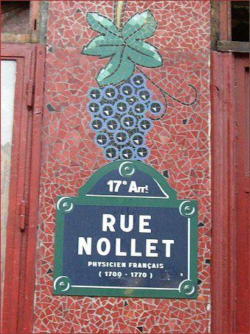 La rue Nollet  (Paris 17ème)