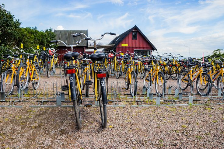Hven yellow bicycles