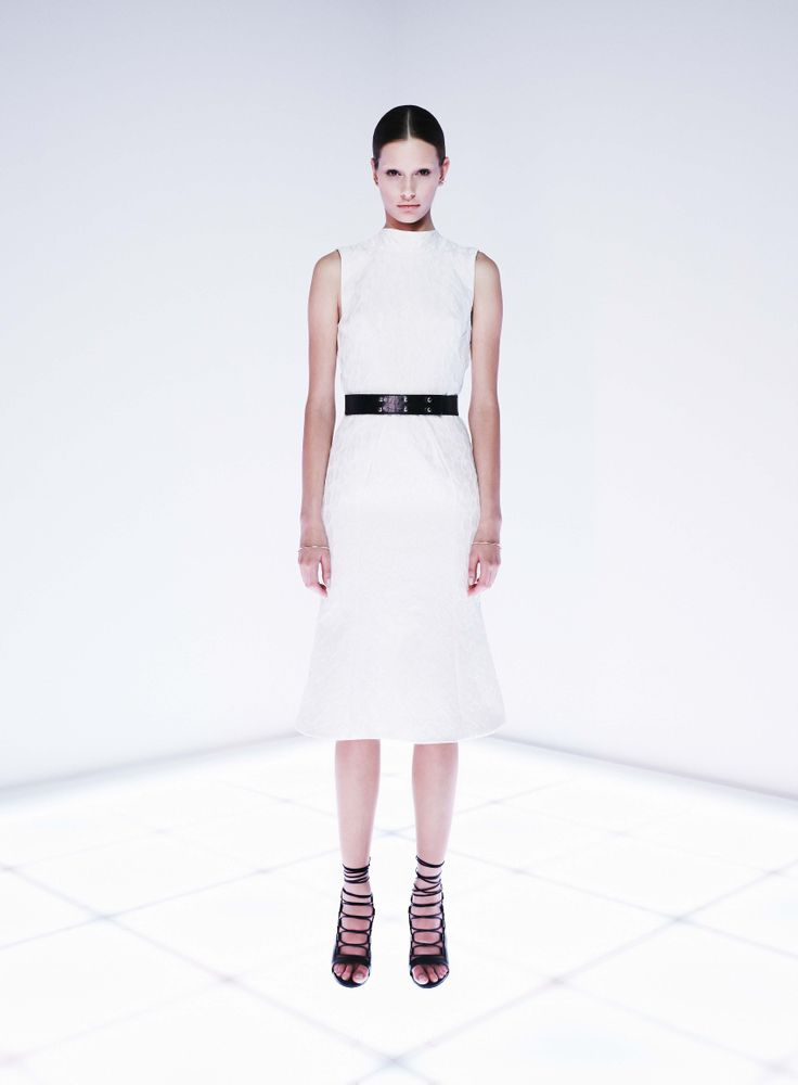 Monochrome Dress by CAMILLA AND MARC http://www.camillaandmarc.com/monochrome-dress-white-w-ivory.html