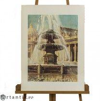 litografie - Fontana di San Pietro - Angelo Marinucci