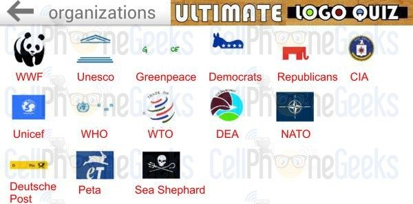 Logo Quiz Ultimate Organizations | Ultimate Logo Quiz ...