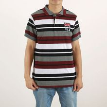 latest yarn dyed stripe pique grey and white red three color polo shirts  best buy follow this link http://shopingayo.space