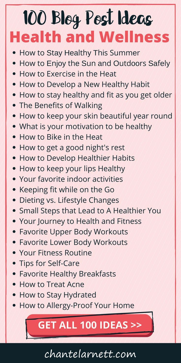 Get 100 Post Ideas for Your Health and Wellness Blog