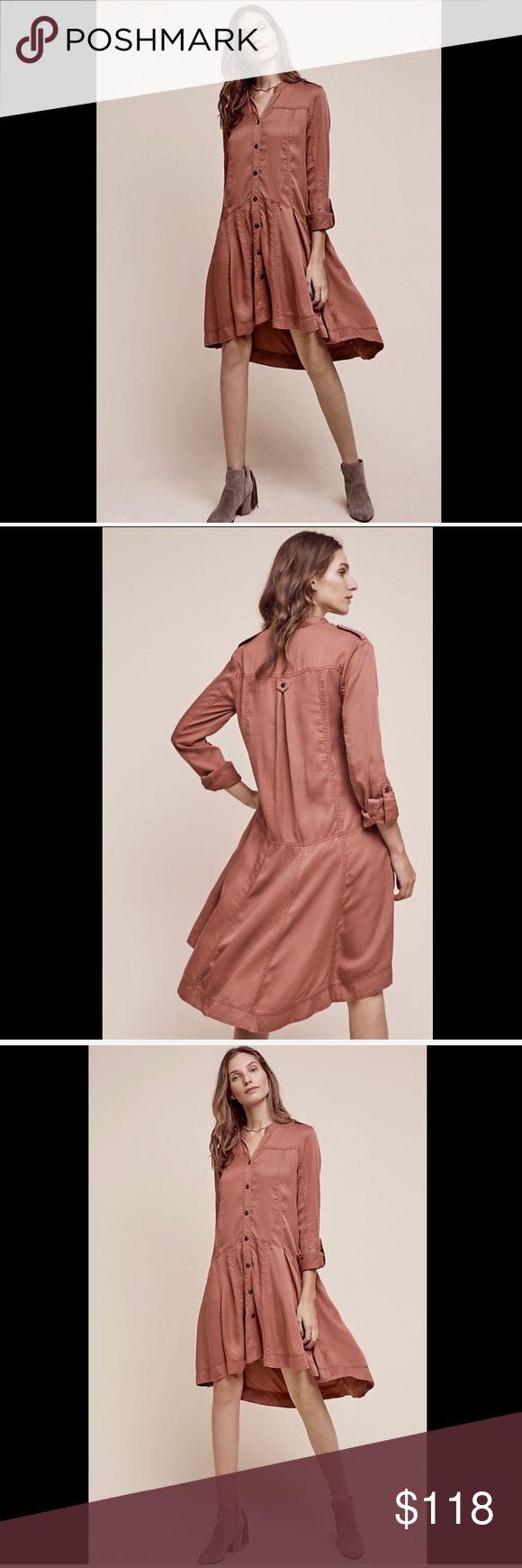 Selling this Anthropologie blush pink Oversized Button Front 8 on Poshmark! My username is: richbororiches. #shopmycloset #poshmark #fashion #shopping #style #forsale #Anthropologie #Dresses & Skirts