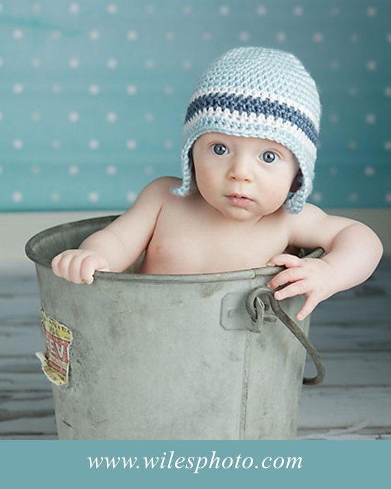 baby boy crochet hat: Boy Crochet Hats, Idea, Earflap Hats, Crochet Projects, Current Crochet, Do You, Baby Boys, Boys Crochet Hats, Crochet Knits