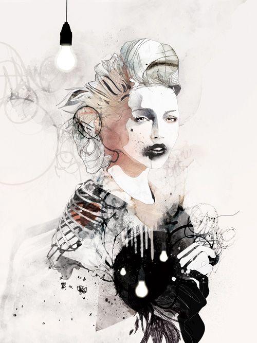 !Aka Mydeadponi, Art Inspiration, Digital Art, Graphics Design, Dead Ponies, Fashion Illustration, Raphael Vicenzi, Art Illustration, Awesome Illustration