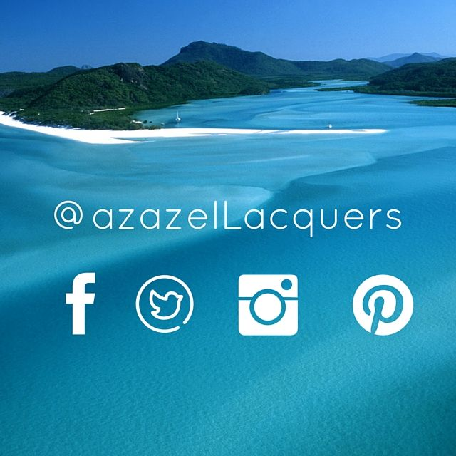 azazel Lacquers is on facebook twitter instagram and pinterest. Follow & like for nail news updates and pics.