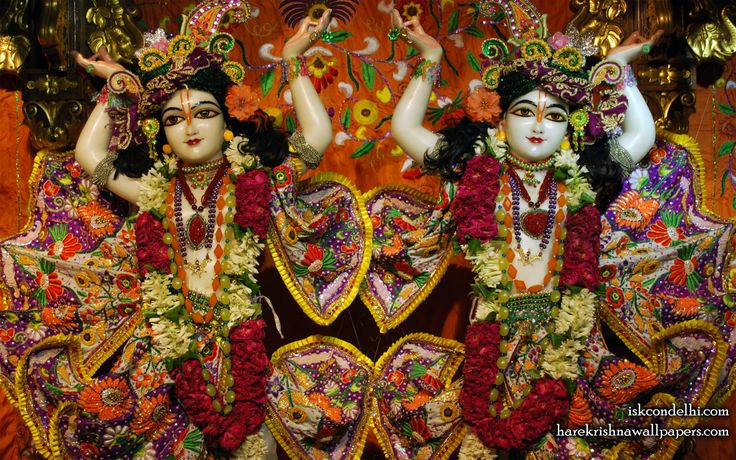 To view Gaura Nitai Close Up Wallpaper of ISKCON Dellhi in difference sizes visit - http://harekrishnawallpapers.com/sri-sri-gaura-nitai-close-up-iskcon-delhi-wallpaper-007/