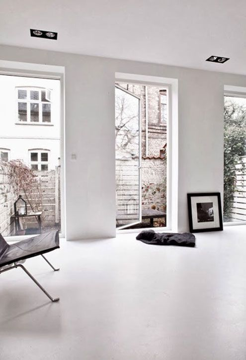 White Townhouse by Norm Architects | NordicDesign  Recessed directional lighting