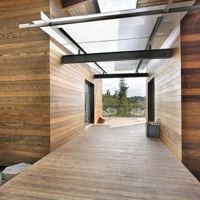 Glass & steel canopy - Lovell Residence